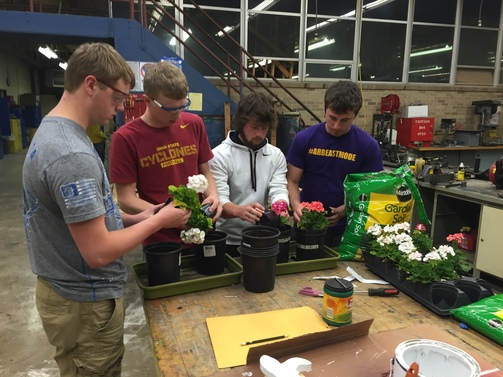 Plant Production in Horticulture Class.